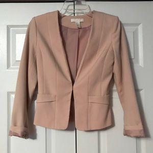 Cropped blush blazer